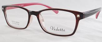 VEDETTE - VE078 Burgundy/Clear - Unisex